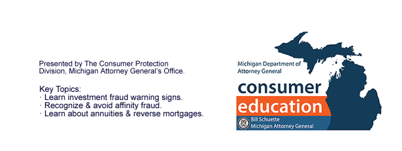 Consumer Investment Fraud: Monday, February 22nd  6:30-8:00 pm