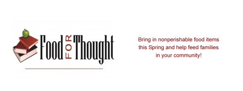 Food for Thought Runs Now through April 28th