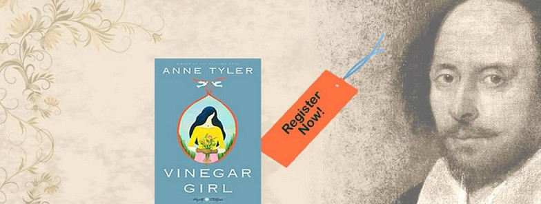Book Discussion: Monday, March 12th: Vinegar Girl by Anne Tyler
