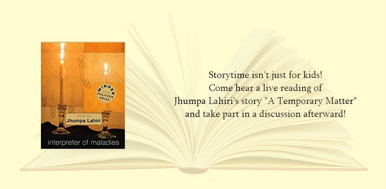 Adult Storytime! Thursday, May 2nd from 6:30-8:00 pm