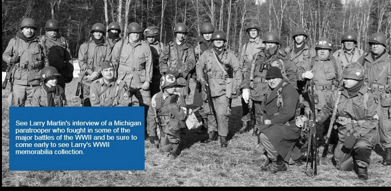 WWII-In Their Own Words Presented by Larry Martin: Monday October 21st 6:30-8:00 pm