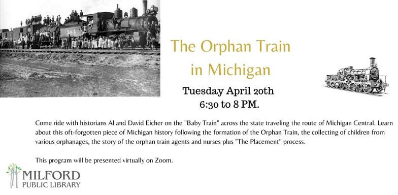 Orphan Train in Michigan