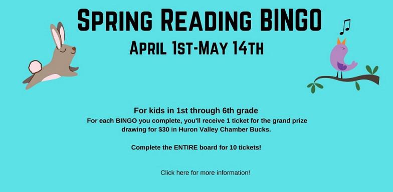 Spring Reading BINGO